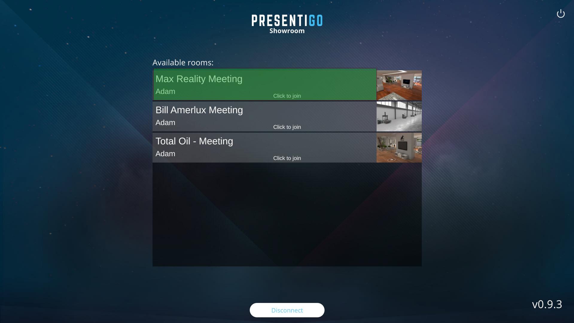 VR SHOWROOM MEETINGS MANAGEMENT